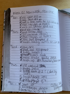 A photo of an open notebook featuring a checklist to illustrate how checklists can be used.