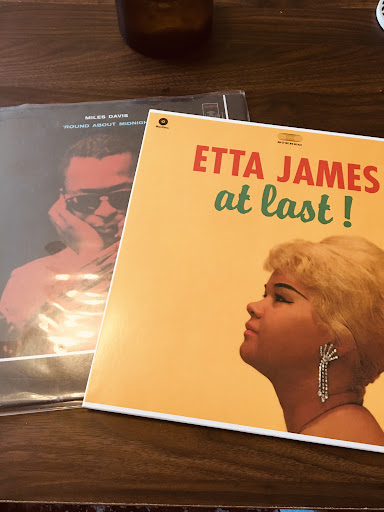 Recordings of music from Miles Davis and Etta James.